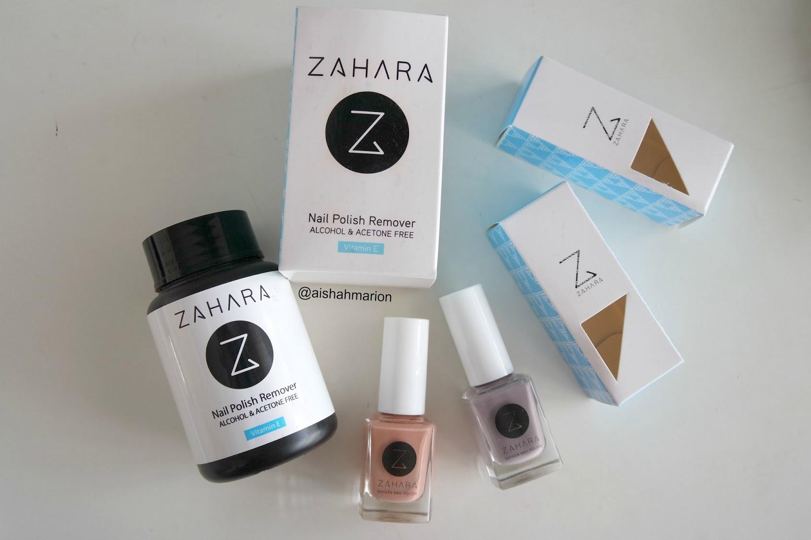 Review : Zahara - Breathable Nail Polish and Halal Nail Polish Remover
