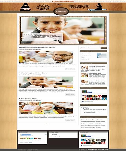 Responsive blogger template google+.