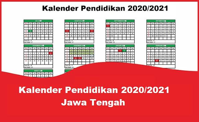 Kalender Pendidikan 2020/2021 Jawa Tengah