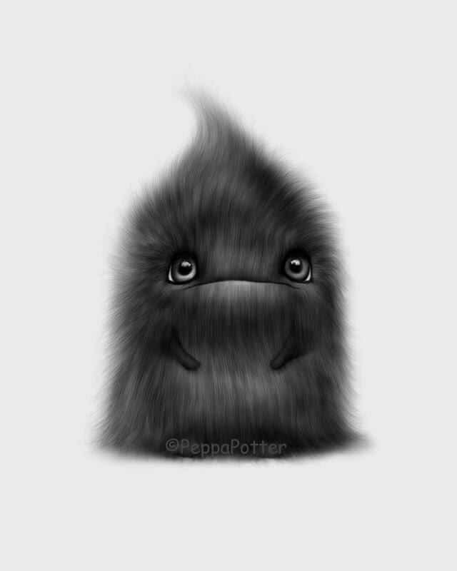 11-Hairy-Blob-Maria-Fluffy-Animals-in-Digital-Art-Creatures-www-designstack-co