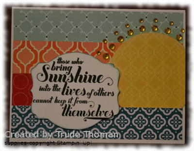 Encouragement card, Stamp with Trude, Stampin' Up!, Feel Goods, Mojo Monday
