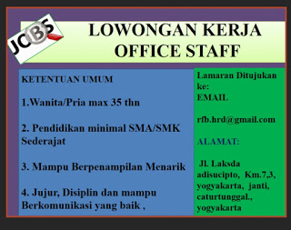 Lowongan Kerja Staff Kantor PT Rifan Financindo Berjangka Yogyakarta