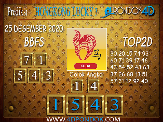 Prediksi Togel HONGKONG LUCKY 7 PONDOK4D 25 DESEMBER 2020