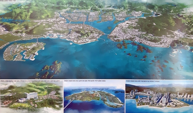 Phối cảnh tổng thể TP Hạ Long đến năm 2040.