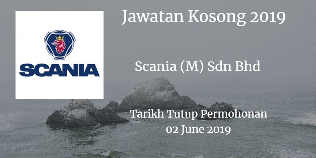 Jawatan Kosong Scania (M) Sdn Bhd 02 June 2019