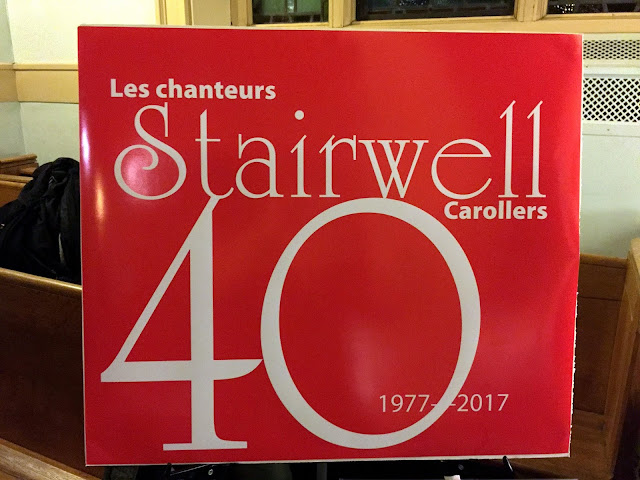 Our recent 40th Anniversary - Les Chanteurs Stairwell Carollers