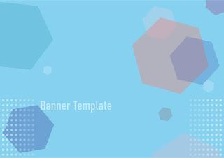 poligonal-banner-template-blue