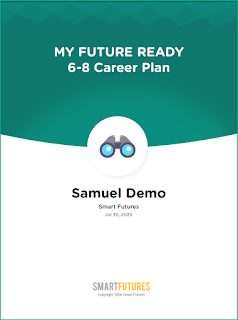 screenshot of cover of 6-8 Career Plan from Smart Futures