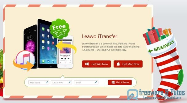 Offre promotionnelle : Leawo iTransfer gratuit pour Noël !