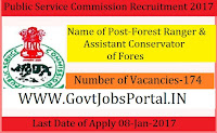 Public Service Commission Recruitment 2017 for Forest Ranger