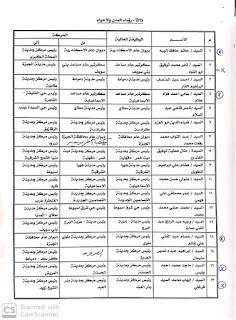بالاسماء حركه المحليات و سكرتير عام مساعد علي مستوي الجمهورية