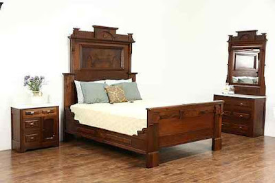 Victorian+1880+Antique+Walnut+Queen+Size+Bedroom+Sets
