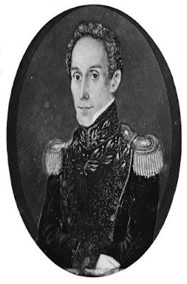 Retrato de Simón Bolívar Antonio Meucci 1830
