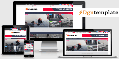 Magma Responsive Blogger Template-high quality themes