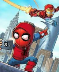 Gambar animasi Spiderman keren