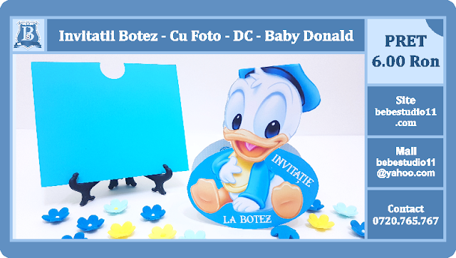 invitatii botez baby donald