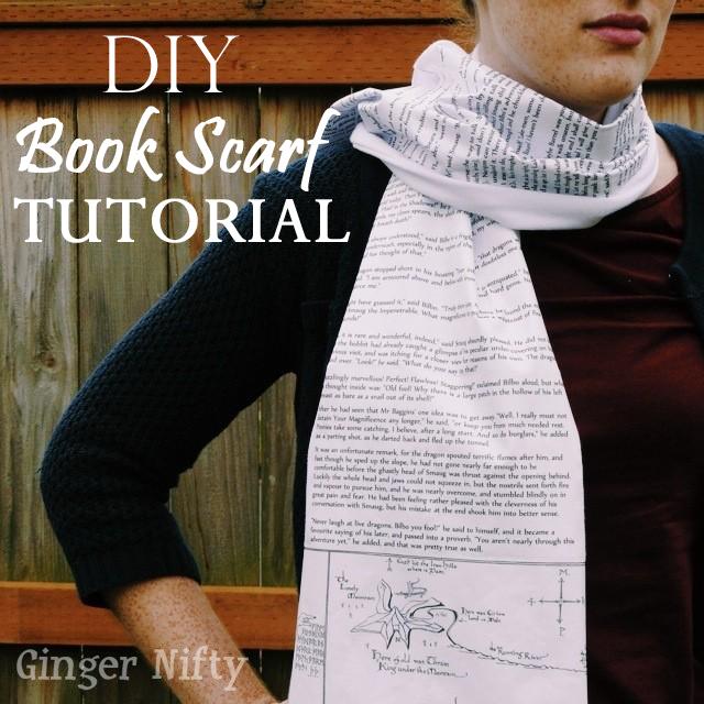 GingerNifty: DIY Book Scarf Tutorial
