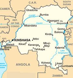Democratic Republic of the Congo map