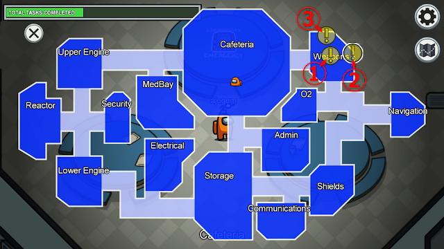 Weapons(ウェポンルーム)のタスクマップ説明画像