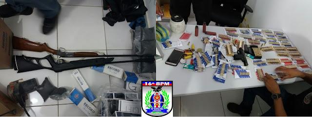 Cinco presos e grande quantidade de armas e munições apreendidas em Santa Quitéria/MA