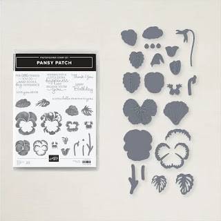 Stampin'Up! Pansy Patch Bundle includes a stamp set and dies which can also be purchased separately