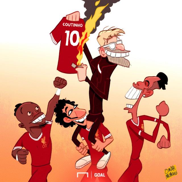 Liverpool, premier league, Jurgen Klopp, Philippe Coutinho, Sadio Mane, Mohamed Salah, Roberto Firmino,