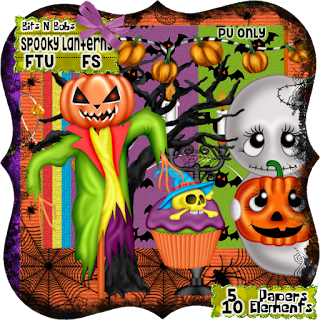 Spooky lantern blog train freebie