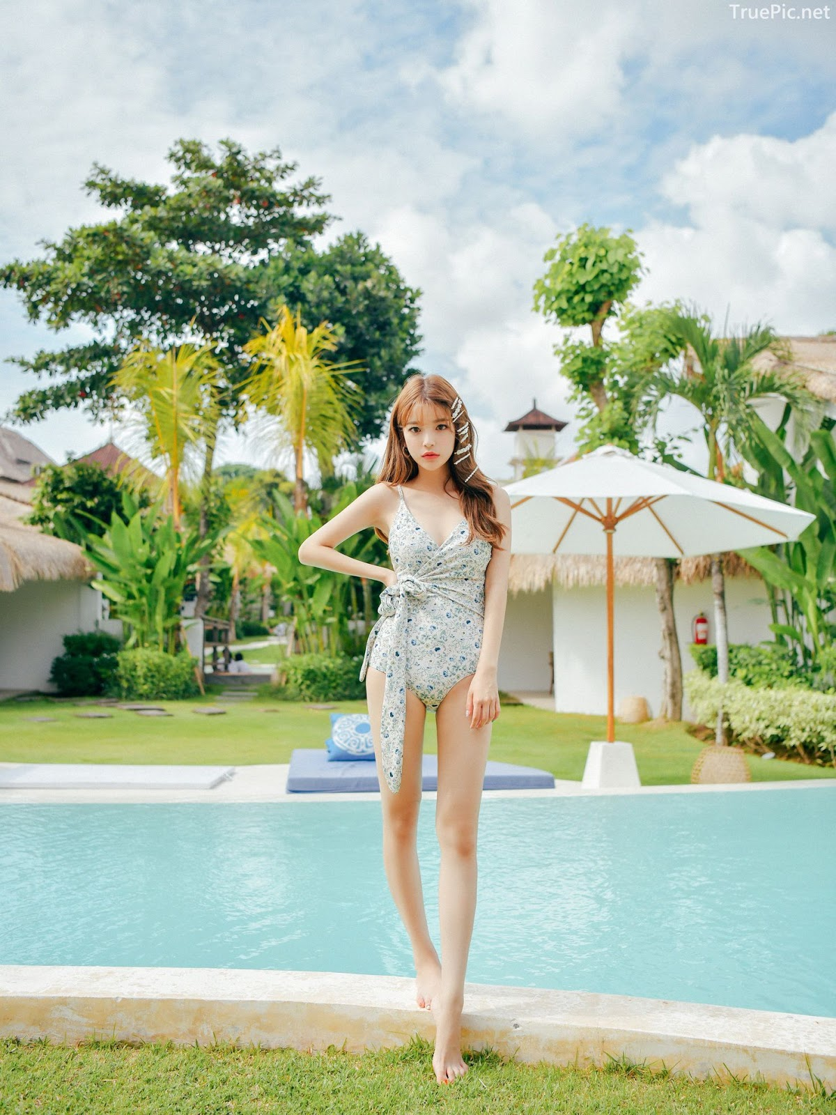 Korean fashion model - Cha Yoo Jin - Alium Ivory Monokini - Picture 4