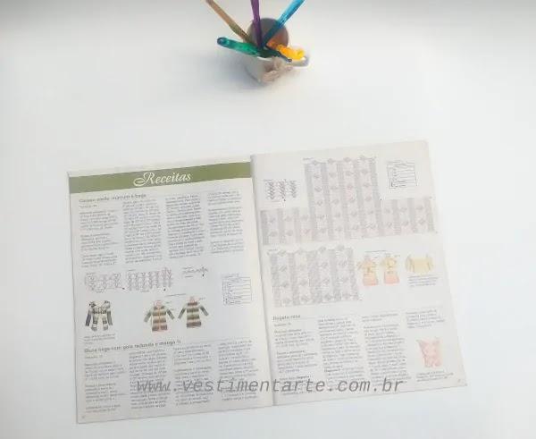 revista receitas gráficos crochê