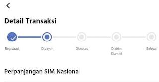 cek status perpanjangan sim online di hp