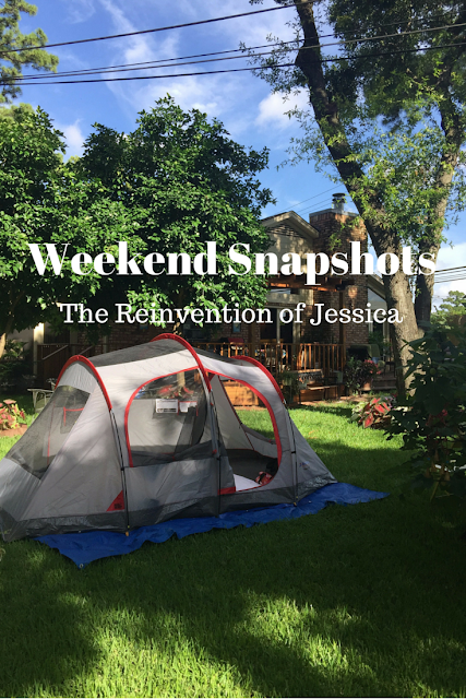 weekend snapshots, blog linkup, the reinvention of jessica, 3twentysix, backyard camping, camping, smores, nasa, johnson space center, space center houston, cool nights houston zoo