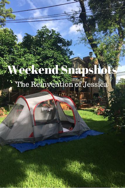 weekend snapshots, blog linkup, the reinvention of jessica, 3twentysix, backyard camping, camping, smores, nasa, johnson space center, space center houston, cool nights houston zoo