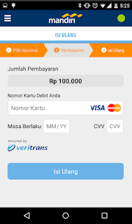 Cara top up via Aplikasi mandiri e-money isi ulang 4