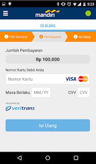 Cara top up via Aplikasi mandiri e-money isi ulang 4