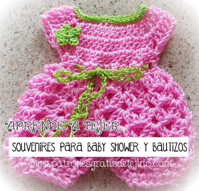 Souvenires Enteritos Crochet para Baby Shower y Bautizos / Tutorial ...