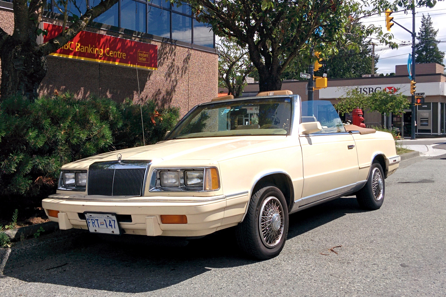 Old Parked Cars Vancouver: 1986 Chrysler LeBaron Convertible