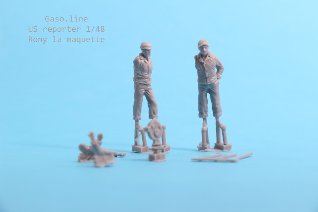 Figurine Gaso.line cameraman reporter US 1/48