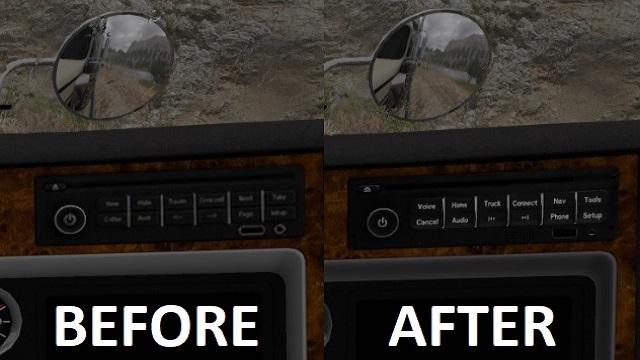 ats kenworth w900 better radio & wheel logo screenshots 3, radio