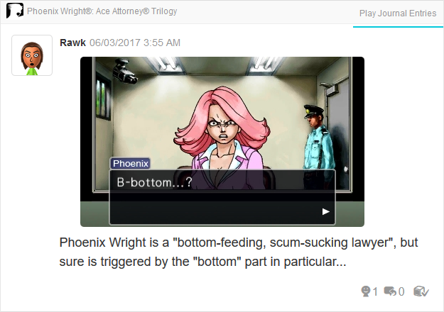 April May detention center bottom Phoenix Wright Ace Attorney Trilogy 3DS Miiverse Capcom Nintendo