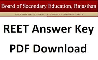 REET Answer Key 2021 Level 1, 2 Question paper PDF Download.