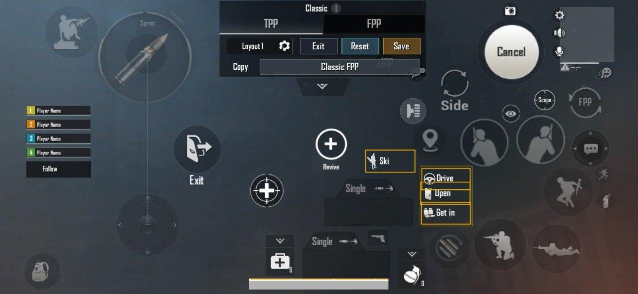 kontrol 4 jari pubg mobile