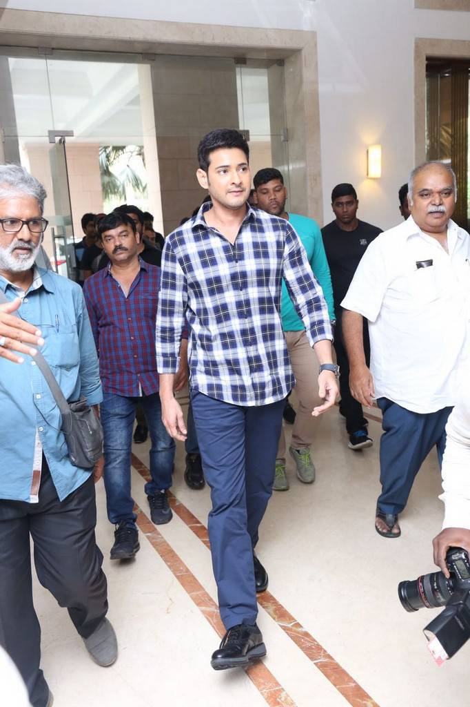 Mahesh Babu At Spyder Movie Press Meet In Chennai Pics