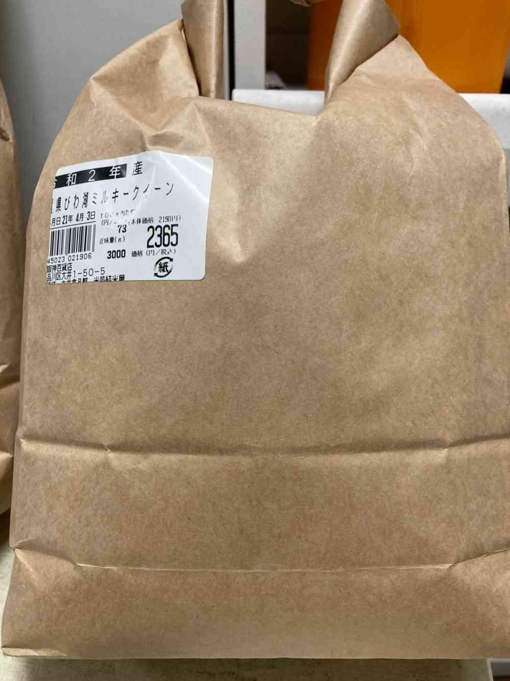 米、滋賀県産のミルキークイーン