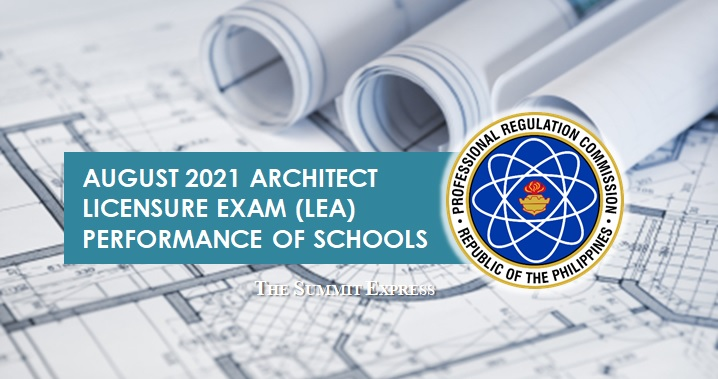 August 2021 Architect board exam LEA result: performance of schools