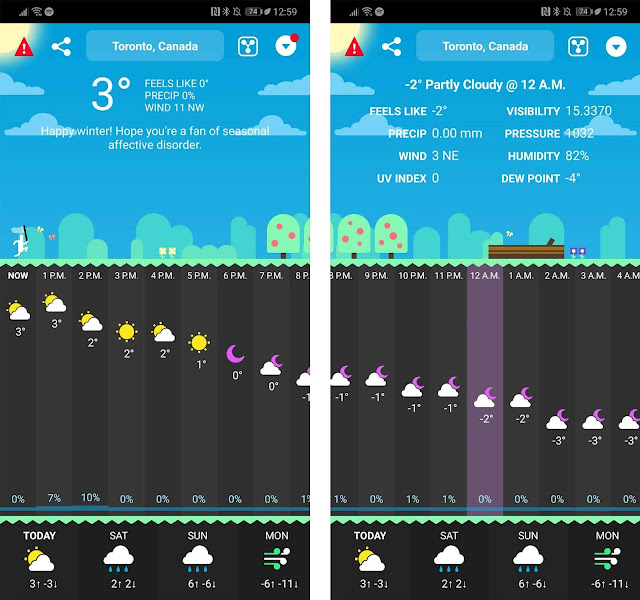 amazing weather app for android os