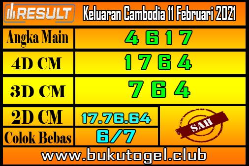 Keluaran Cambodia 11 Februari 2021