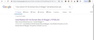 Cara Mengetahui Postingan Blog Sudah Terindeks Google Atau Belum
