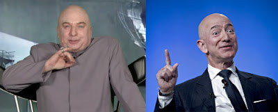 Mike Myers as Dr. Evil; Jeff Bezos as himself