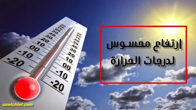 نشرية تحذر من تجاوز درجات الحرارة 40 تحت الظل