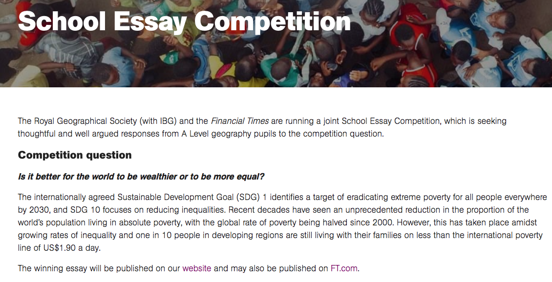LivingGeography: Financial Times Essay Competition with the RGS